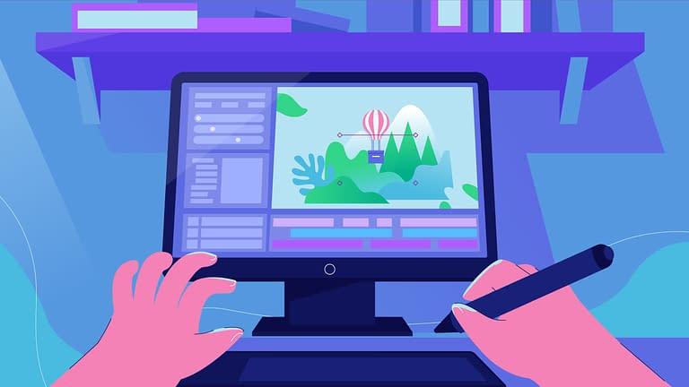 gambar animasi tangan dengan komputer