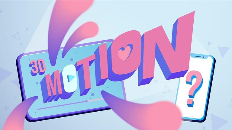gambar tulisan motion dengan warna merah muda